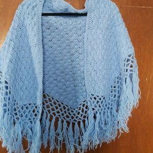 Jackets & Blazers - Handmade Vintage soft blue shall